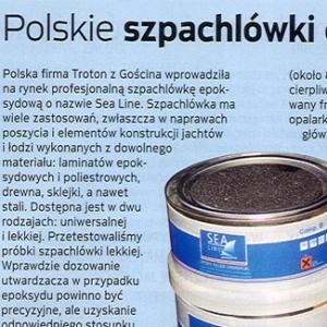 Polskie szpachlówki epoksydowe (Żagle 02.2009)