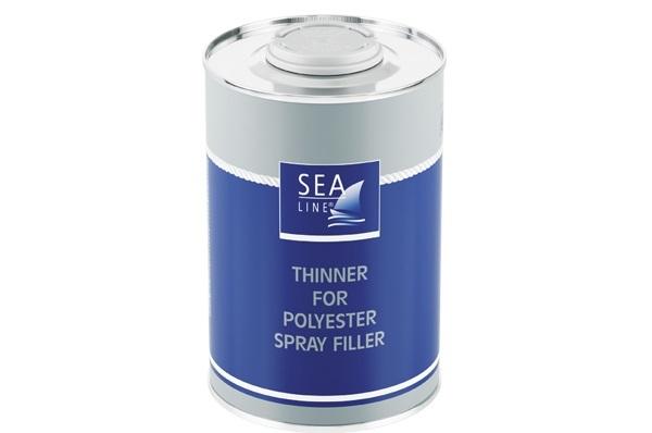 Thinner polyester spray filler