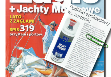 Epoxy primer in the « Żagle » water sports magazine