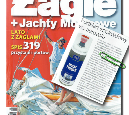 "Epoxy primer in the ""Żagle"" water sports magazine"